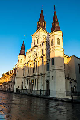 Photograph - St. Louis Cathedral Kissed By The Morning Sun by Andy Crawford