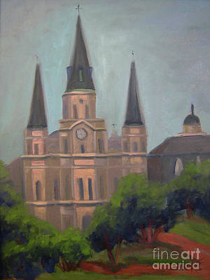 Painting - St. Louis Cathedral by Lilibeth Andre