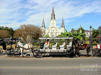 Photograph - St Louis Cathedral New Orleans by Ed Weidman
