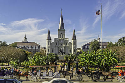 Photograph - St. Louis Cathedral One Of New Orleans Notable Landmarks by Willie Harper