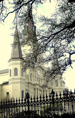 Photograph - St. Louis Cathedral by Rachel Munoz Striggow