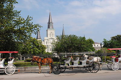 Photograph - St Louis Cathedral by Robert  Moss