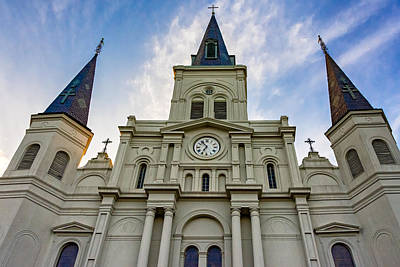 Cathedral Photograph - St Louis Cathedral Twilight by Steve Harrington