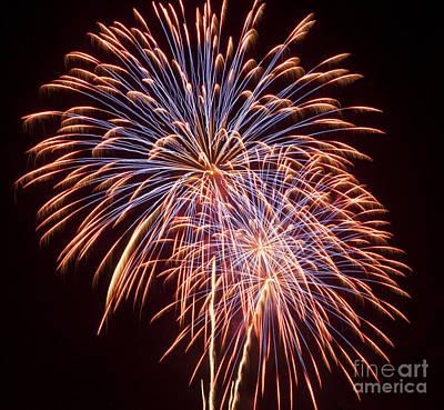 St Louis Fireworks Art Print by Philip Pound
