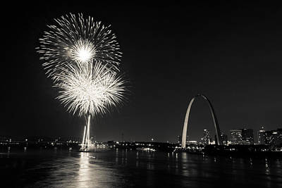 Photograph - St. Louis Fireworks by Scott Rackers