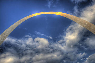 St. Louis Gateway Arch On The Fourth Of July Art Print by Ed Cilley