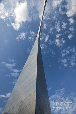 Photograph - St. Louis Gateway Arch Pinnacle by David Haskett