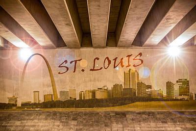 Photograph - St. Louis Graffiti Skyline by Semmick Photo
