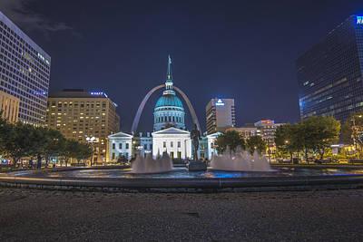 Photograph - St. Louis Missouri Gateway Arch  by David Haskett II