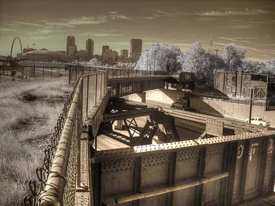 Metal Fence Photograph - St. Louis Missouri by Jane Linders