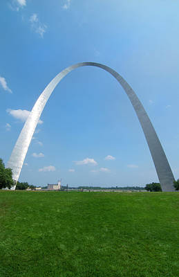 Gateway Arch Photograph - St Louis, Missouri, The Gateway Arch Or by Bill Bachmann