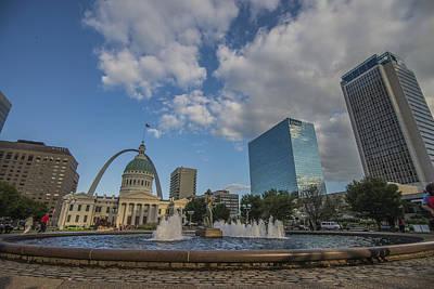 Photograph - St. Louis Missuri Gateway Arch by David Haskett II