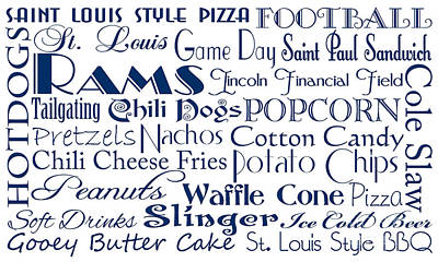 Digital Art - St Louis Rams Game Day Food 1 by Andee Design