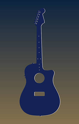 Rams Photograph - St Louis Rams Guitar by Joe Hamilton