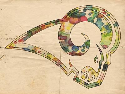 Painting - St Louis Rams Poster Art by Florian Rodarte
