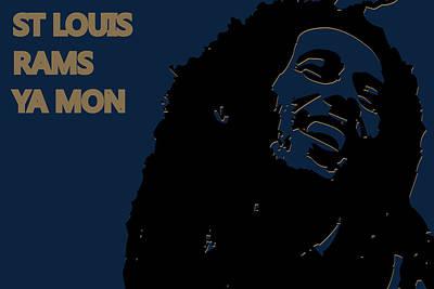 Drum Photograph - St Louis Rams Ya Mon by Joe Hamilton