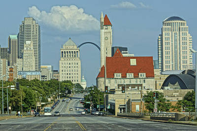 Photograph - St Louis Sky Line by Greg Kluempers