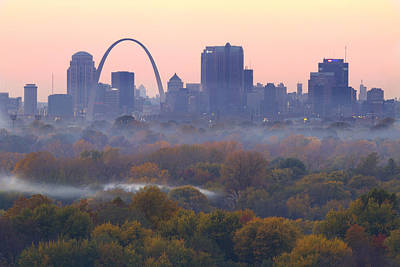 Arch Photograph - St Louis Skyline And Arch by Garry McMichael