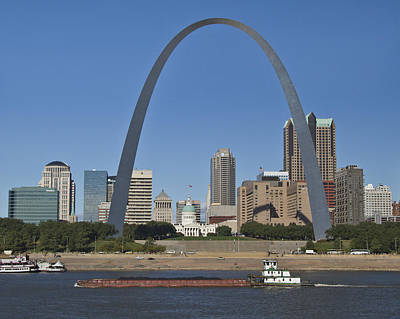 St Louis Skyline Art Print by Garry McMichael