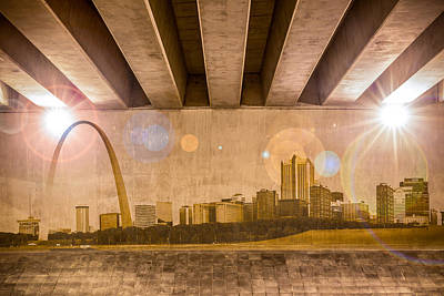 Photograph - St. Louis Skyline by Semmick Photo