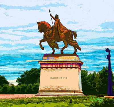 Photograph - St. Louis Statue by C H Apperson