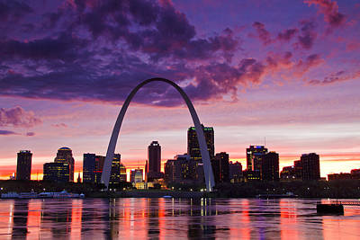 St Louis Sunset Art Print by Garry McMichael