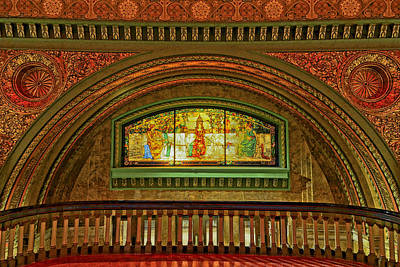 Photograph - St Louis Union Station Allegorical Window Dsc00284 by Greg Kluempers