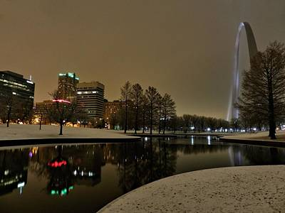 Photograph - St. Louis - Winter At The Arch 005 by Lance Vaughn