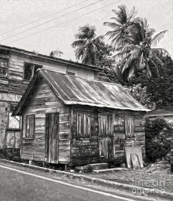 St Lucia - Old Shack Art Print by Gregory Dyer