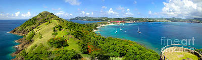 Photograph - St Lucia - Rodney Bay Panorama - 01 by Gregory Dyer
