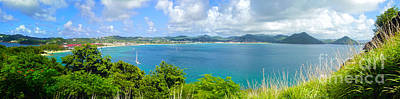 Photograph - St Lucia - Rodney Bay Panorama - 02 by Gregory Dyer