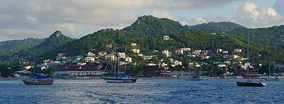 Art Print featuring the photograph St. Lucia - Cruise - Three Boats by Nora Boghossian