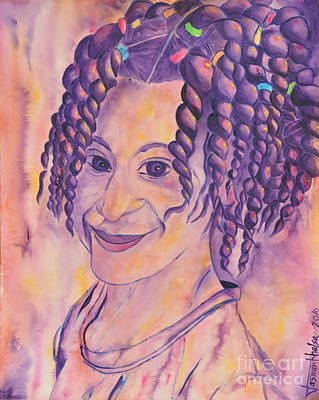 Painting - St. Lucian Girl by Jaswant Khalsa