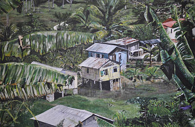 Art Print featuring the painting St Lucian Spot by Dottie branchreeves