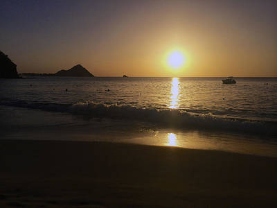 Photograph - St Lucian Sunset 1 by John Colley