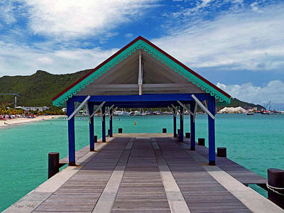 Photograph - St. Maarten Pier by Marie Hicks