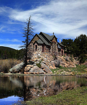 Chapel On The Rock Photograph - St. Malo Chapel by Shane Bechler