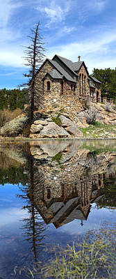 Reflection Photograph - St. Malo Church by Shane Bechler