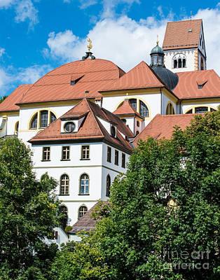 St. Mang's Abbey - Fussen - Germany Art Print by Gary Whitton