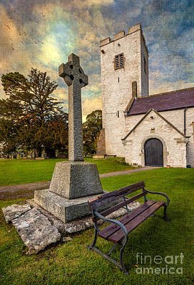 Medieval Entrance Photograph - St. Marcellas Celtic Cross by Adrian Evans