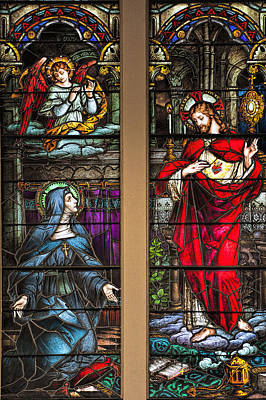 St. Margaret Mary Alacoque And Sacred Heart Of Jesus Art Print by Bonnie Barry