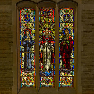 Religious Art Photograph - St Margaret's Stained Glass by Chris Bordeleau
