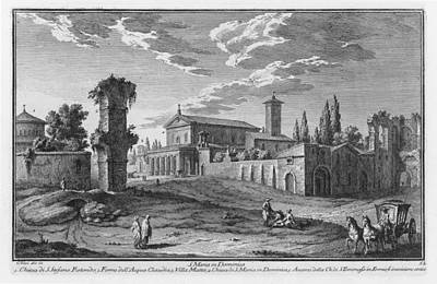 Drawing - St Maria In Domenica by Giuseppe Vasi