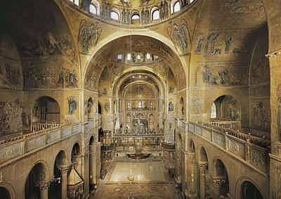 St. Marks Basilica. Italy. Venice. St Print by Everett