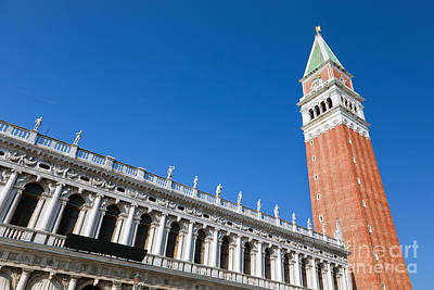 Photograph - St Marks Campanile The Bell Tower Venice Italy by Michal Bednarek