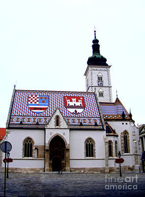 Photograph - St. Mark's Church Zagreb 1 by Nina Ficur Feenan