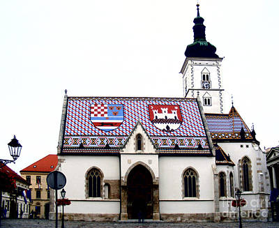 Photograph - St. Mark's Church Zagreb 2 by Nina Ficur Feenan