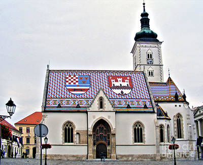 Photograph - St. Mark's Church Zagreb 3 by Nina Ficur Feenan