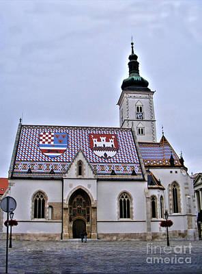Photograph - St. Mark's Church Zagreb 4 by Nina Ficur Feenan