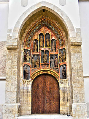 Photograph - St. Mark's Church Portal by Nina Ficur Feenan